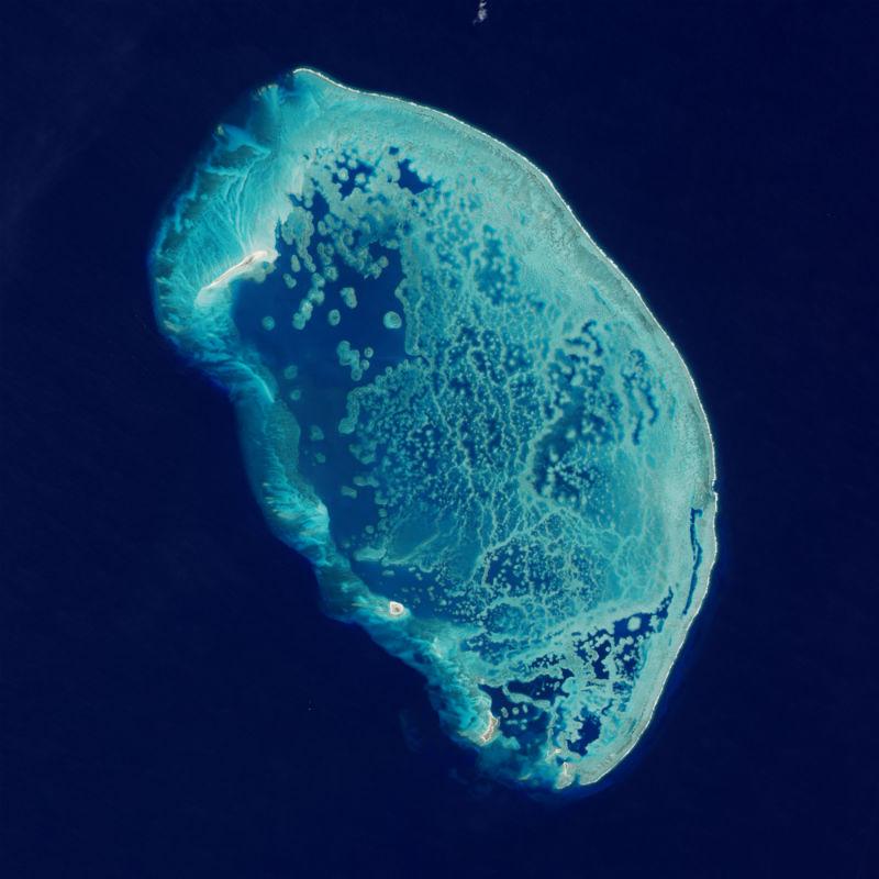 mexico desde el espacio arrecife alacranes sur golfo mexico