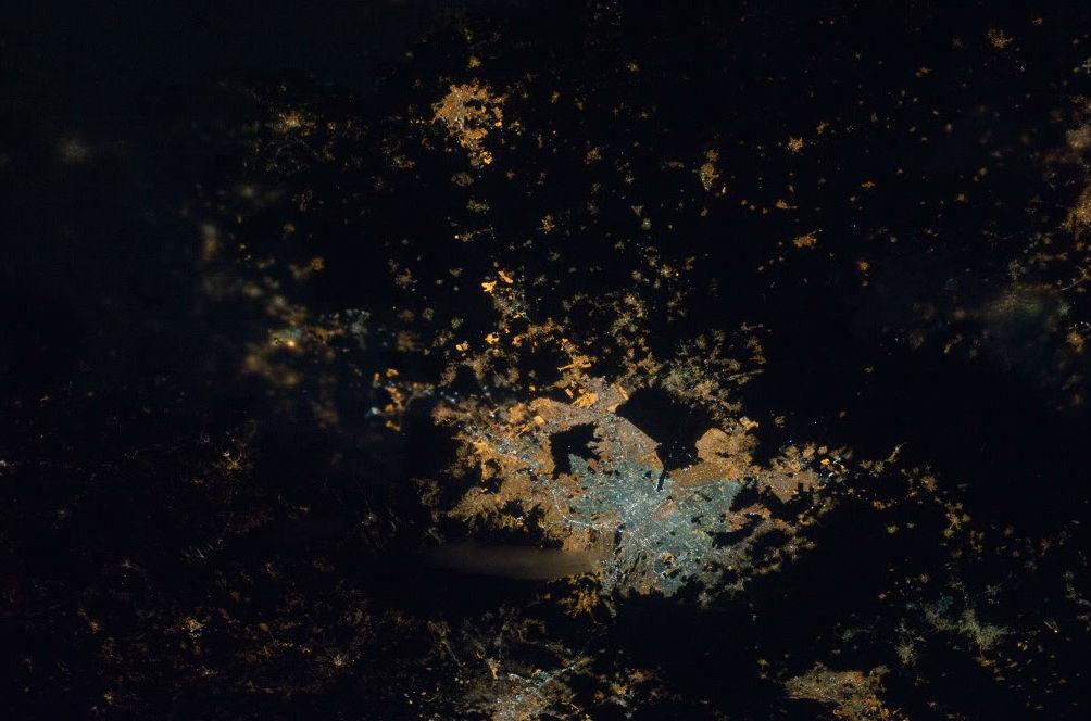 mexico desde el espacio ciudad de mexico