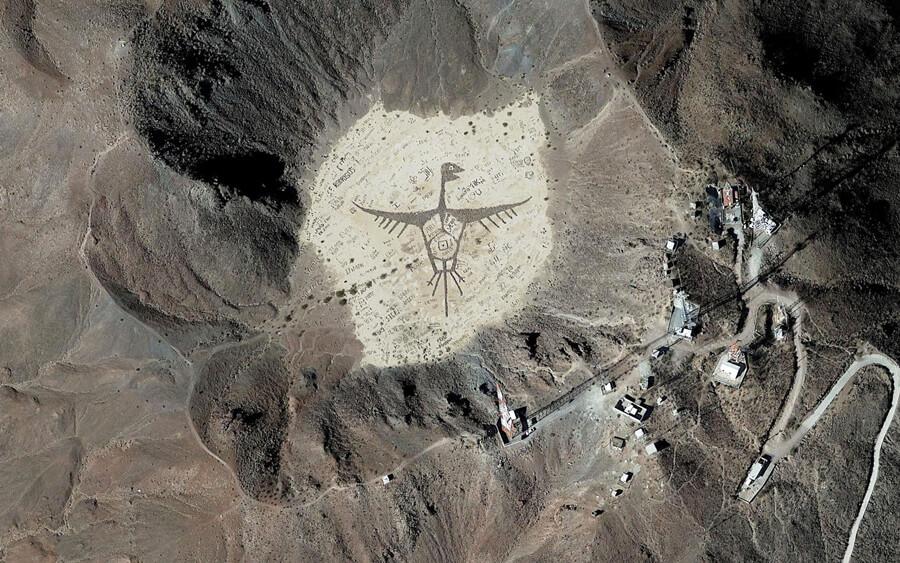 dibujo grafitti crater cerro prieto volcan baja california