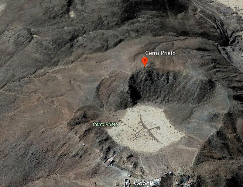dibujo grafitti volcan cerro crater prieto baja california 2