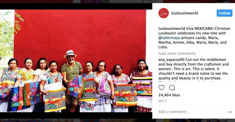 Louboutin bolsos mujeres mayas mal pagados
