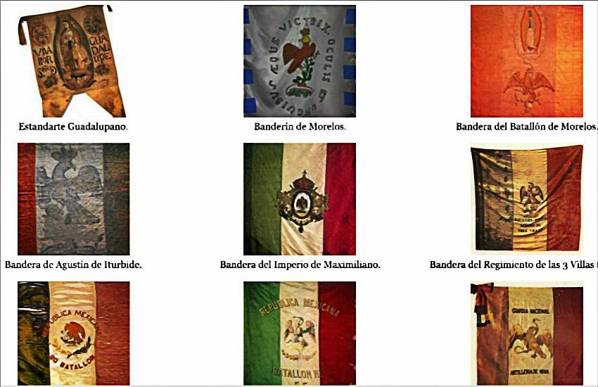 Historia Gráfica De La Bandera De México Fotos