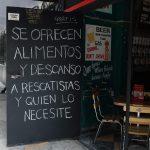 Los establecimientos solidarios de los al rededores de las zonas de desastre en la Condesa. (Foto: Corina Herrera)