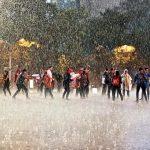 Ni siquiera la fuerte lluvia del día 20 pudo parar las tareas de los voluntarios
