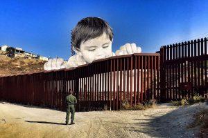 arte- contemporáneo-JR-artista frances-frontera-interevencion-niños-muro-Mexico-Estados Unidos