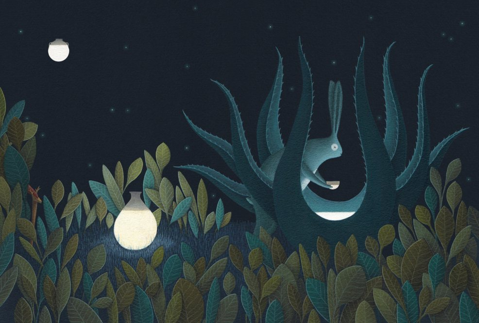mito-mexicano-mexico-conejo-luna-pulque-tlacuache