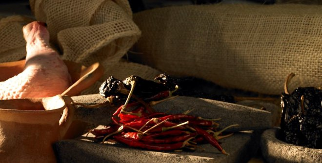 moctezuma-mesa-banquete-hernan-cortes-comida-prehispanica